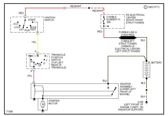 89 buick regal new starter, new battery, new ends, check all fues, and relays no power to start ... neutral safety relay wiring diagram
