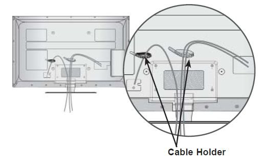 How To Detach Power Cable From An Lg Flat Panel Led Tv