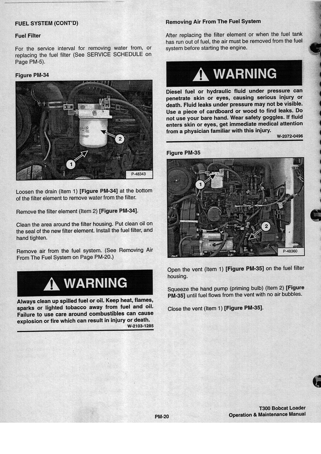 Guys Im Trying My Best To Find A Bobcat Manual For T 190 So Fuel Filters Graphic