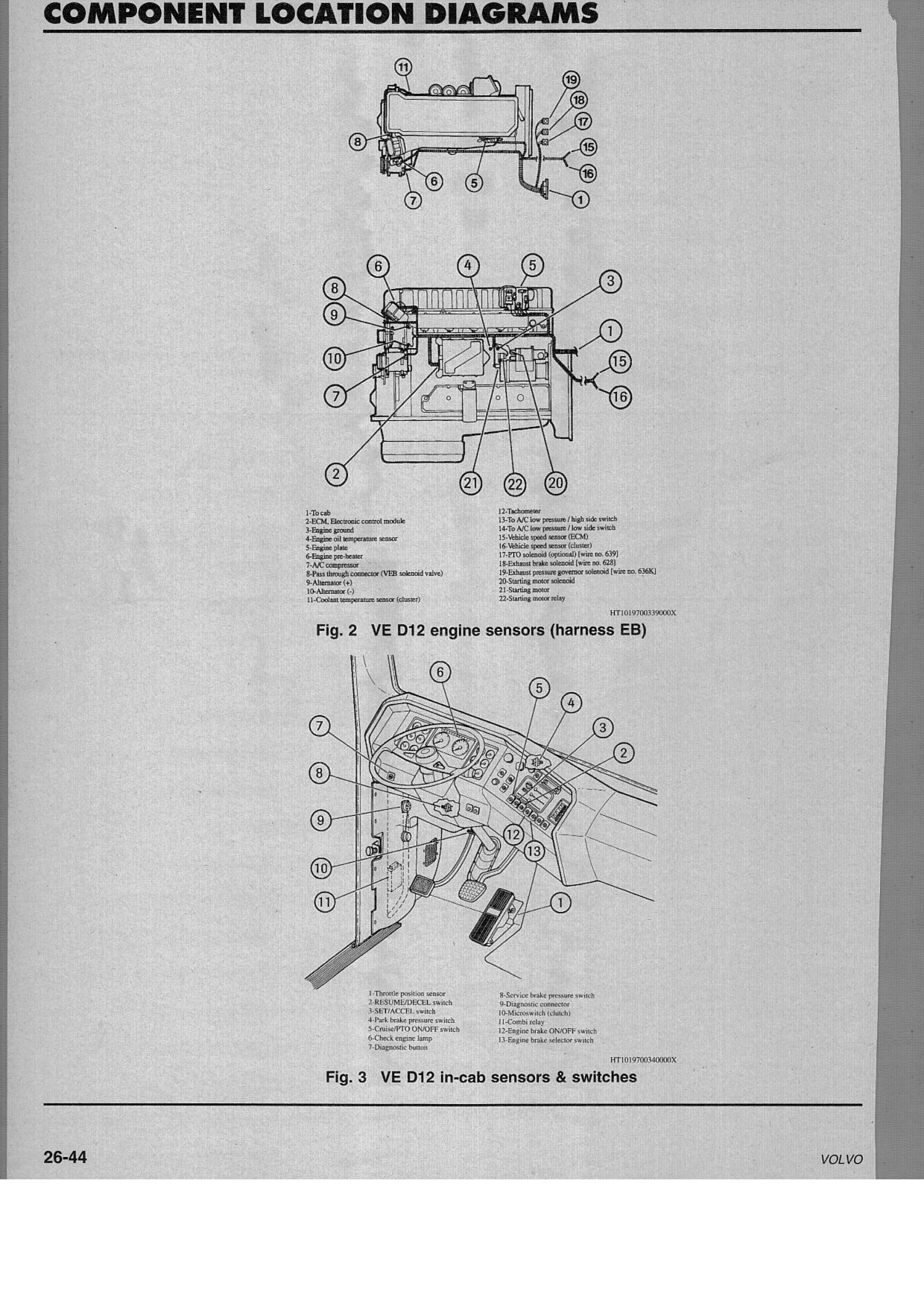 Oil Pressure Sensor Volvo D12 Truck Engines Diagram Oil Pressure