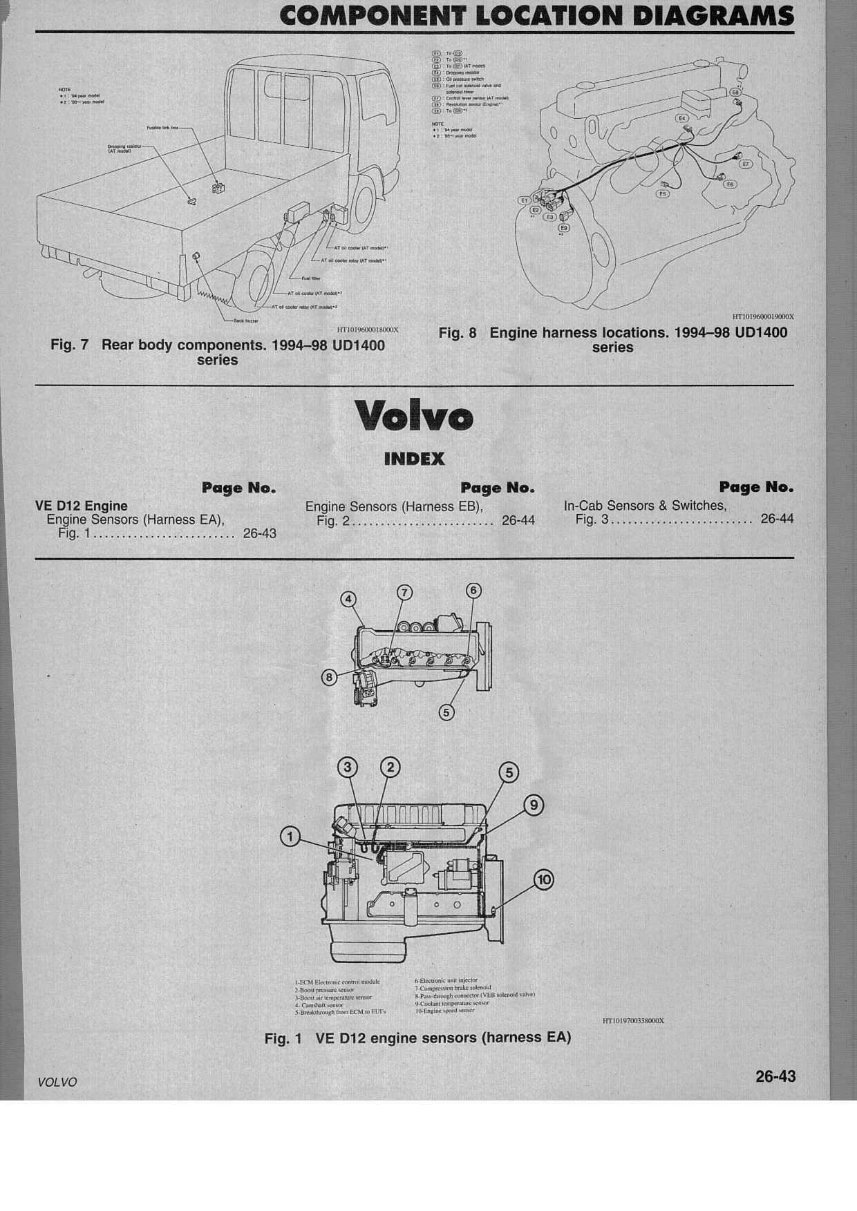 Volvo D12 Ecm Wiring Diagram Manual E Books F4a51 I Have A 2000 Semi Tractor With 385 Engine That Has Anvolvo