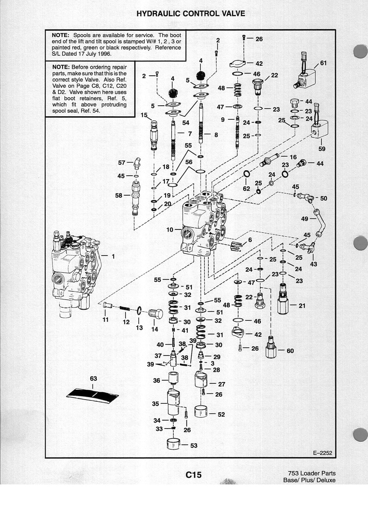 Bobcat Control Valve on Bobcat 743 Parts Diagram