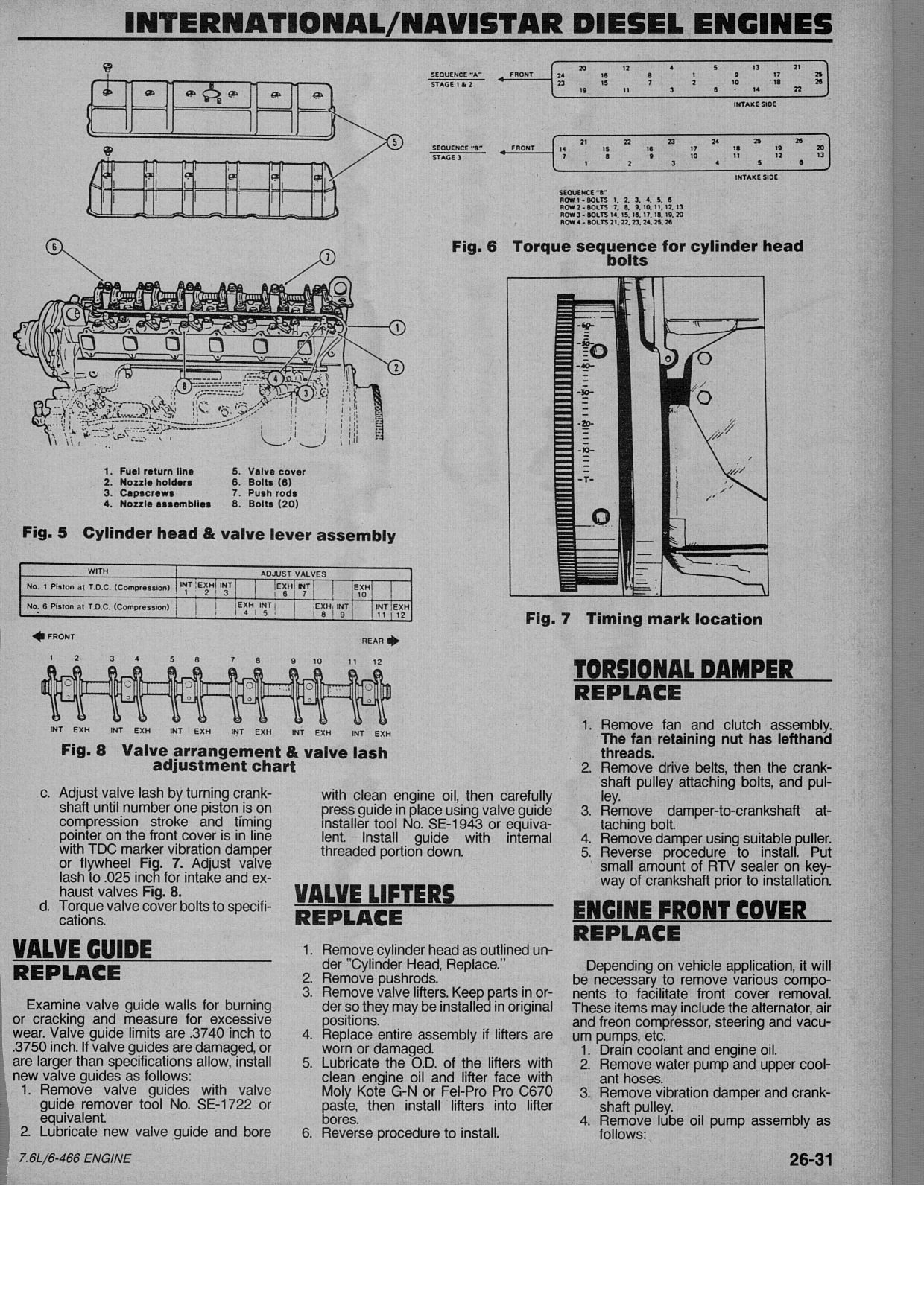 What is the torque specks for 1994 International 7 6 engine
