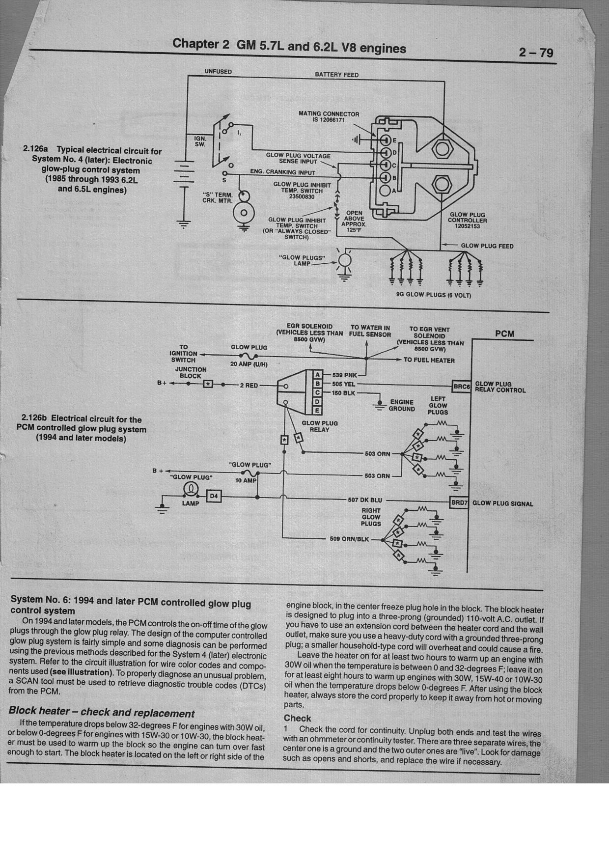 Gm Glow Plug Wiring Detailed Schematics Diagram 6 Based In Atlanta Ga With A 1988 Chevy C30 2 Ltr Engine Turns Wire