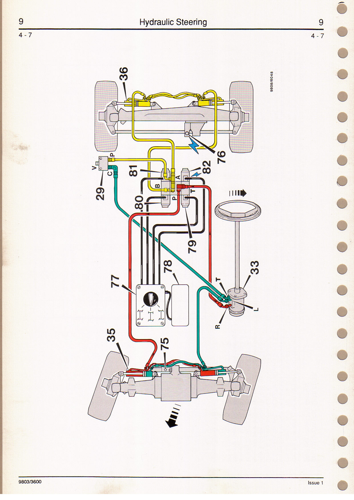 I have a JCB 506B. vinSLP506B0TE0577437. the steering ... Jcb Steering Selector Switch Wiring Schematics on