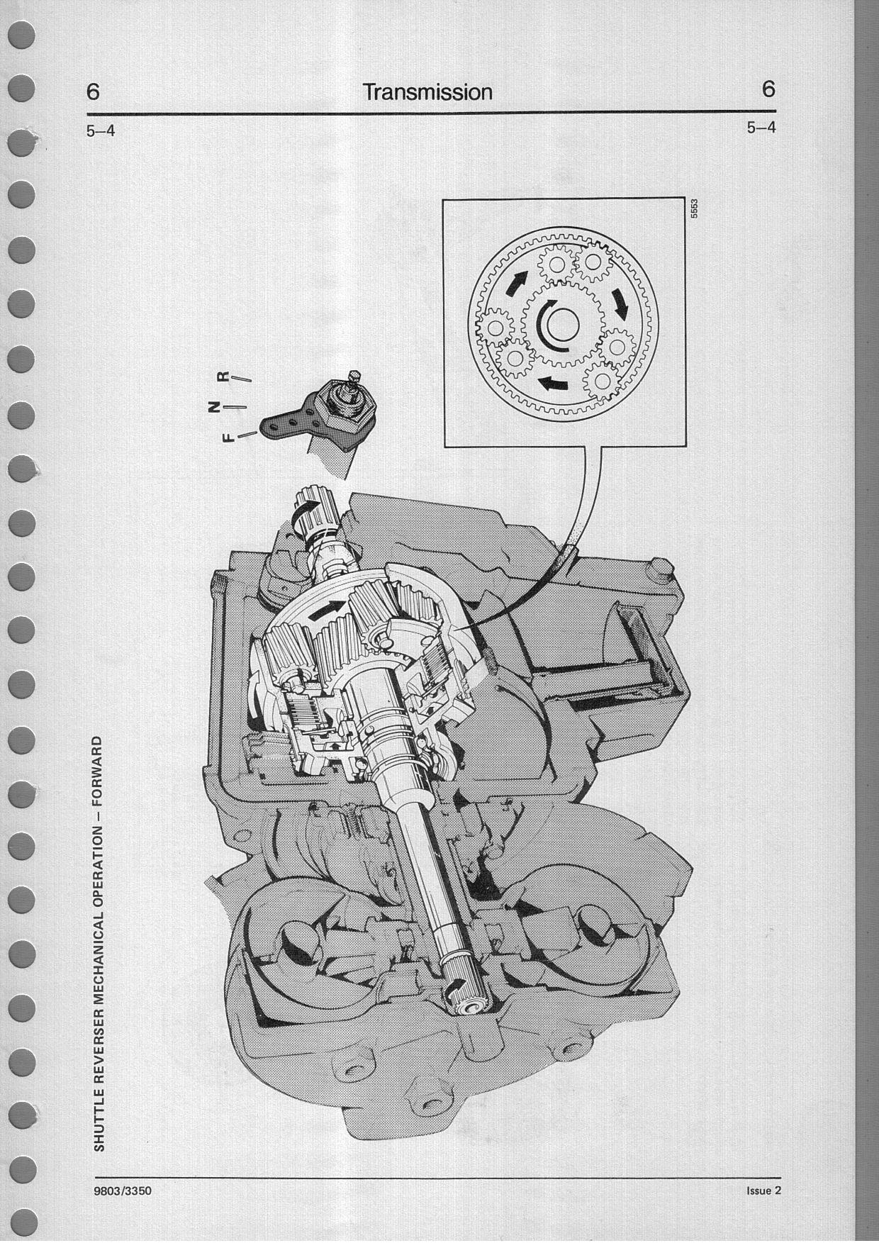 1987 JCB 1400B backhoe-automatic transmission problem