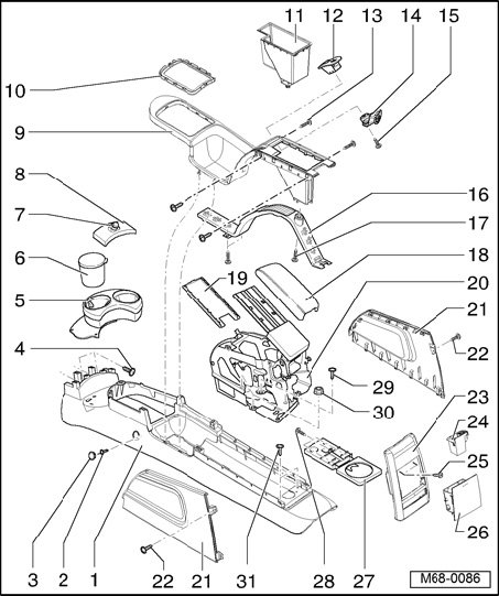 Service Manual Remove The Center Consal For A 1991 Volkswagen Passat Volkswagen Golf Gti Mk