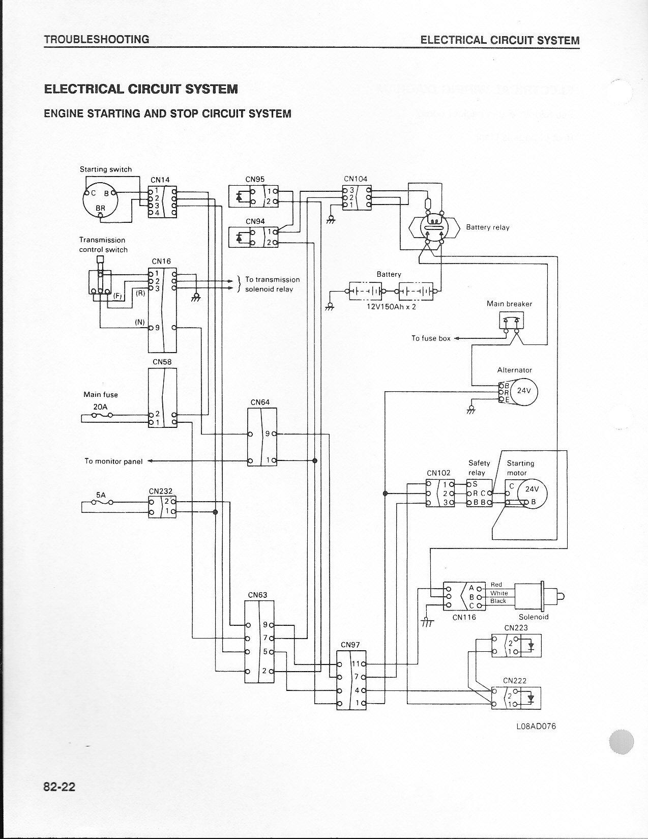 have a wa350 1 1987 wheel loader that won t turn over it was Battery Disconnect Switch Installation hi jim this is from a 380 1 book but similar to yours i believe i hope these will help you