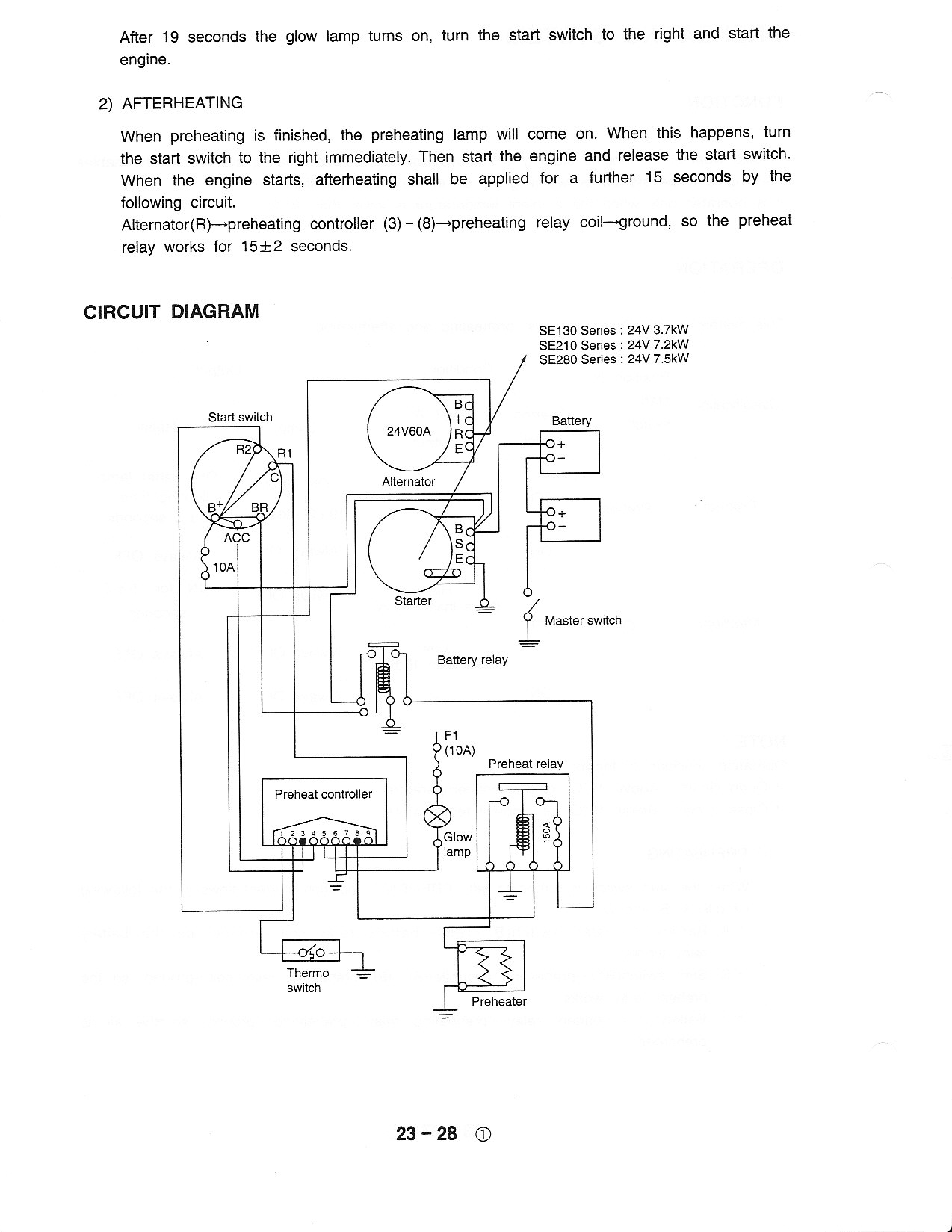 Need A Wiring Schematic For The Starting System On Samsung 130 Hyundai 210lc 7 Diagram Hi Glad That Info Helped Here Is Other You Requested Thanks Dan