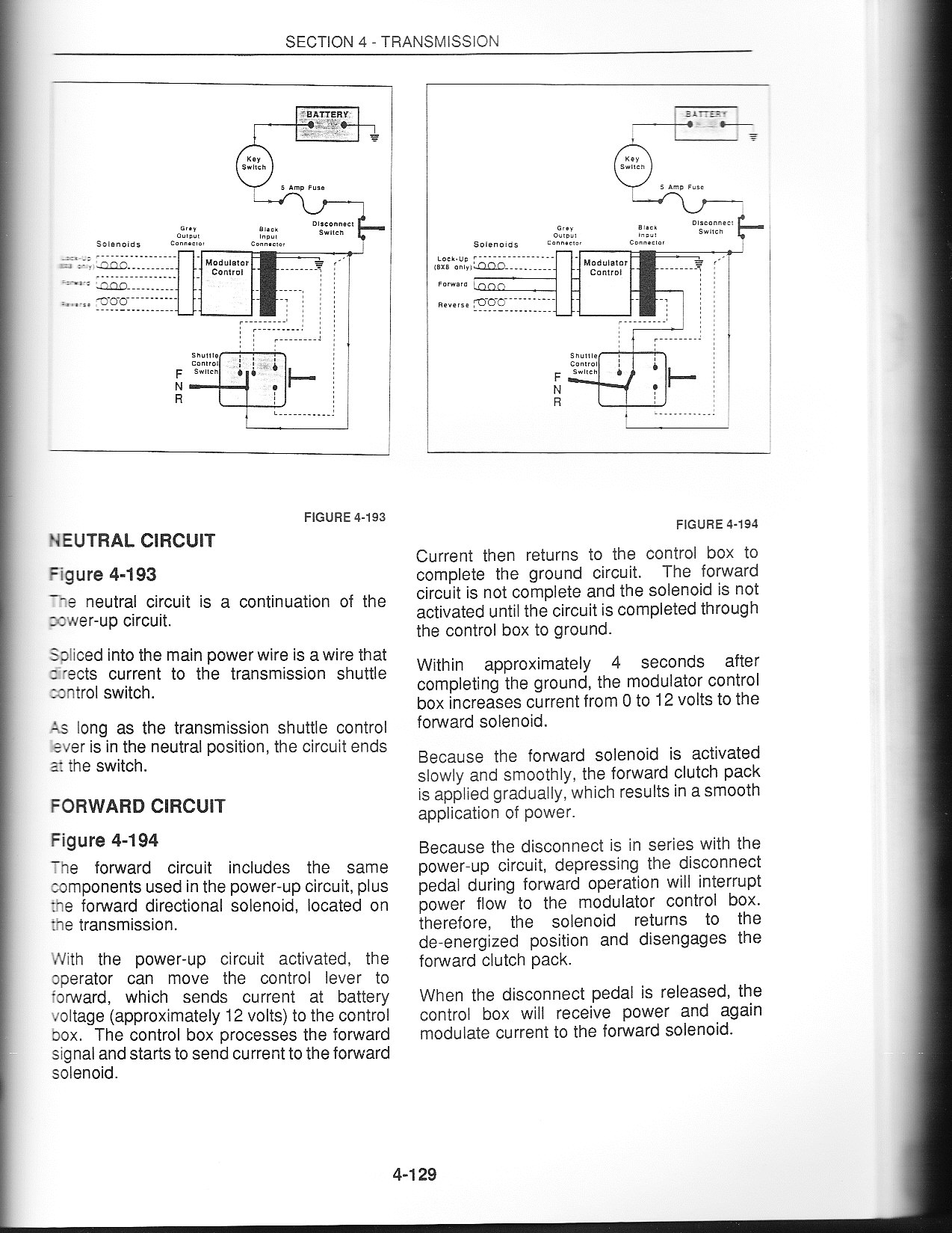 I Have A Ford 445c Loader Tractor With 8 X8 Lectronic Shuttle Shift 1210 Wiring Diagram Graphic