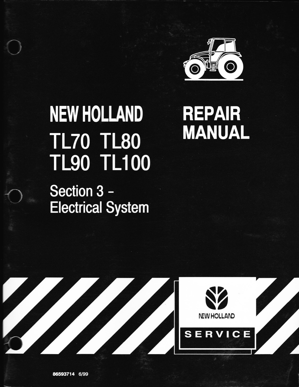 TL 80 two wheel drive ROPS tractor will not start with key switch. New Holland Tl Ac Wiring Diagrams on