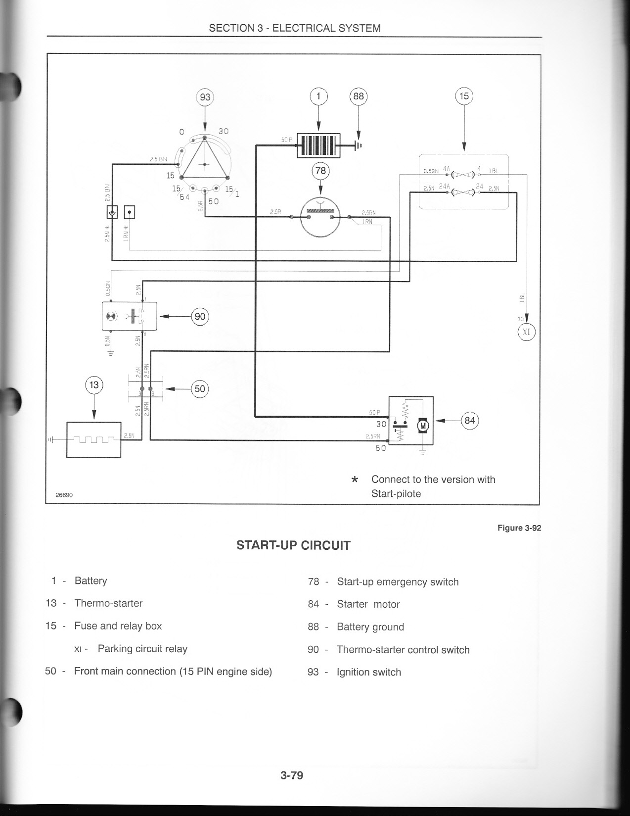 Tl 80 Two Wheel Drive Rops Tractor Will Not Start With Key Switch I Vintage New Holland Lawn Wiring Diagram Graphic