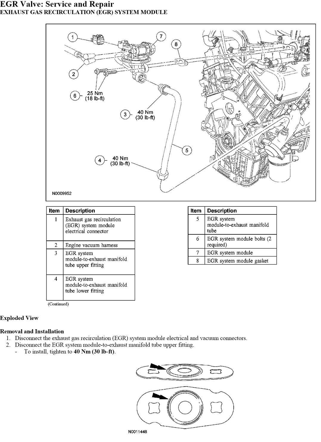 2005 ford explorer  the egr valve located  check engine light