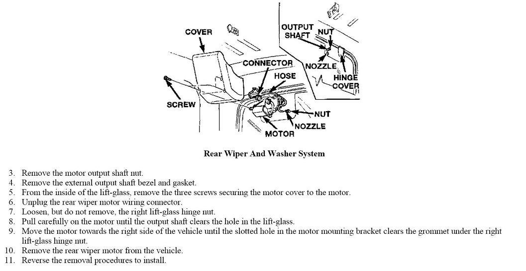 how to fix your windshield wiper motor