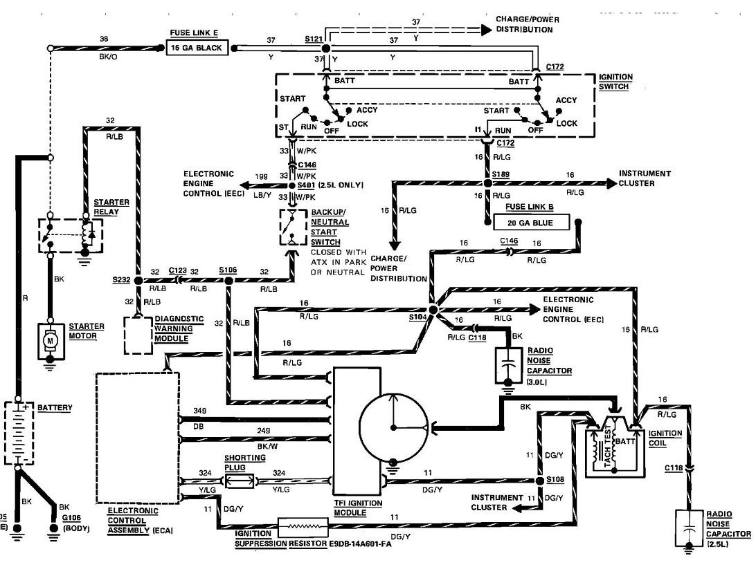 i need from the ignition switch to the starter wire ... 4 wire ignition switch diagram #7