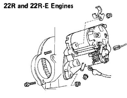 how do you remove a starter motor on a toyota hilux surf 2