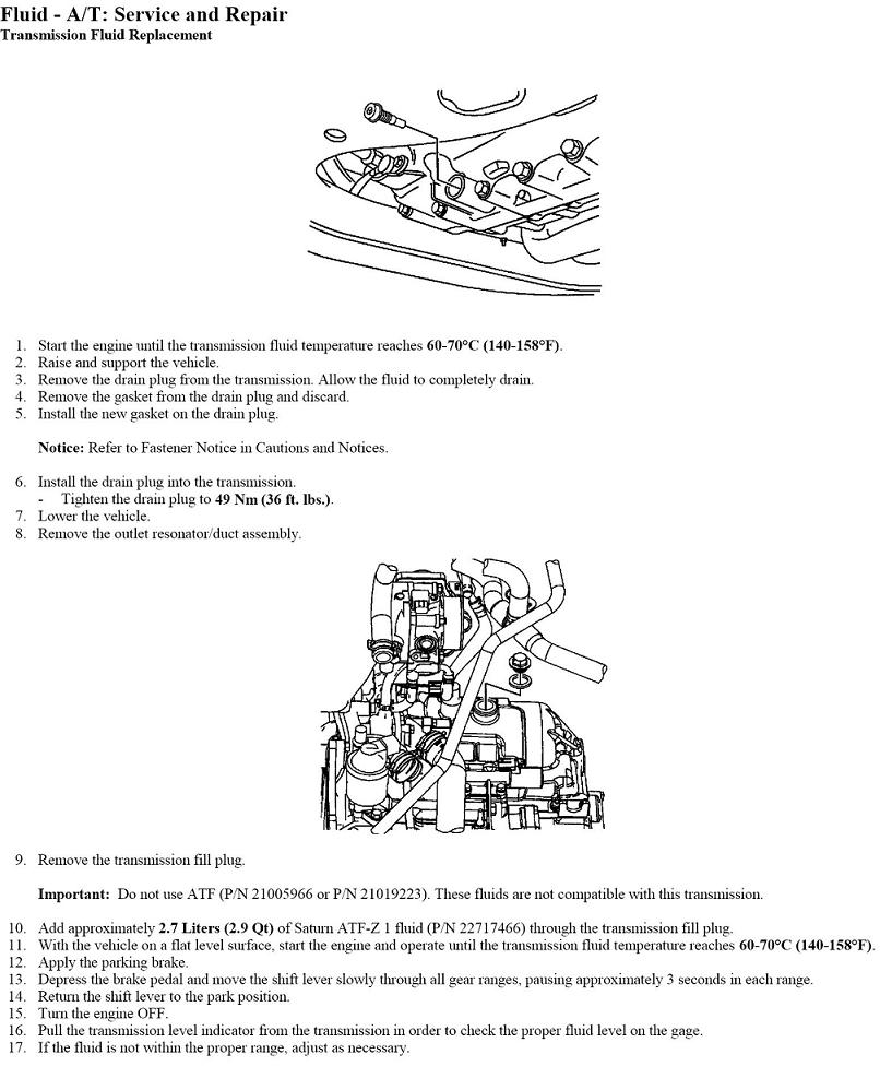 I Want To Change The Trans Fluid On My 2004 Saturn Vue How Looks Transmission Location Graphic