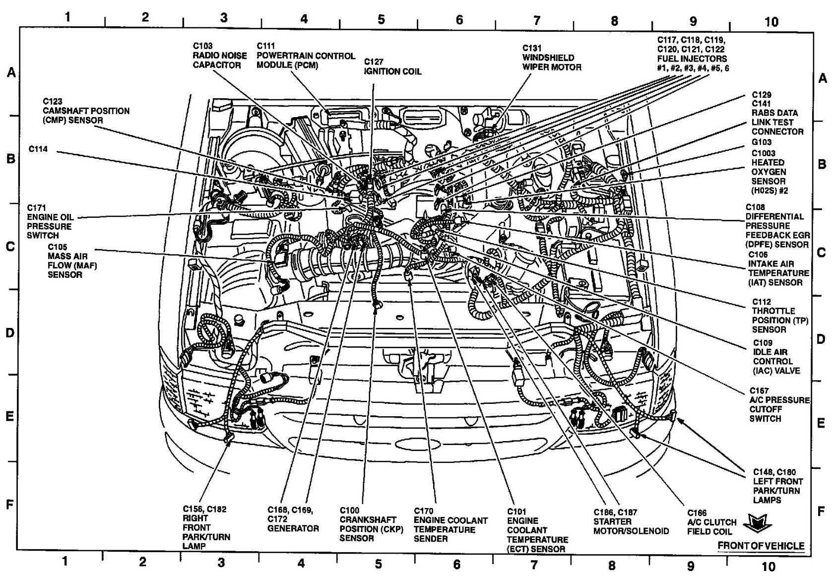 99 Ford Ranger Engine Diagram Simple Wirings V6 1999 Explorer Wiring Todays 40