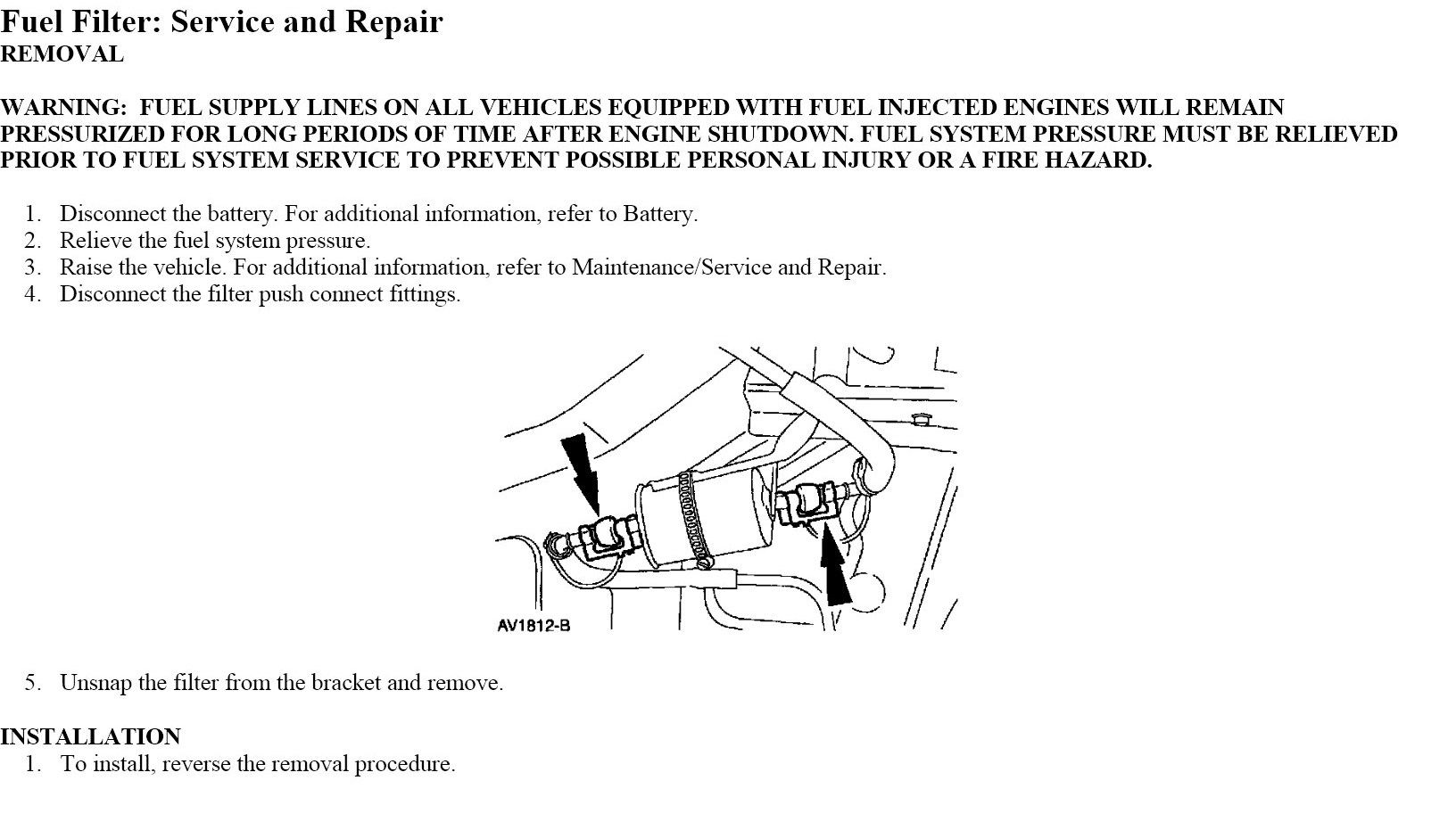 Replace Fuel Filter Inside Gas Tank 2004 Dodge Magnum Graphic
