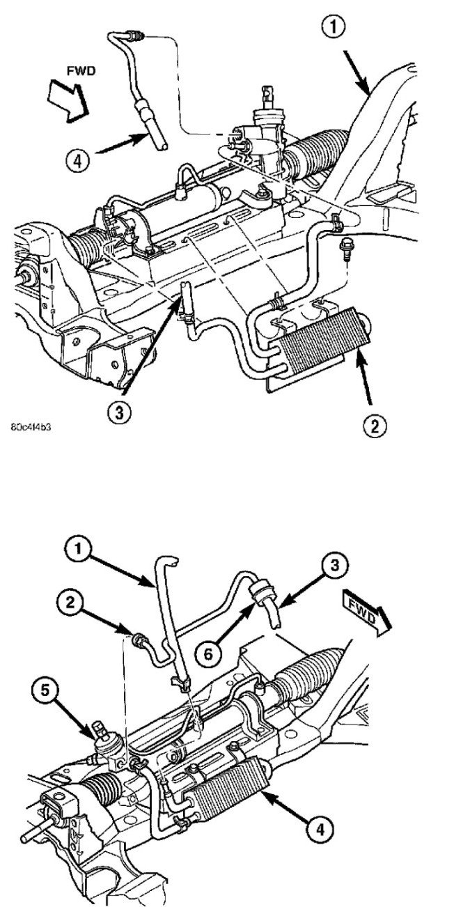 service manual  how to change a powersteering hose 2012