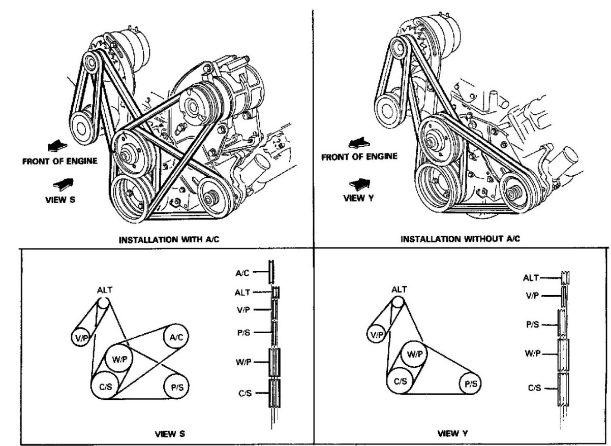 I Need A Belt Diagram For A 1985 Ford F250 6 9l Diesel Engine  Thanks