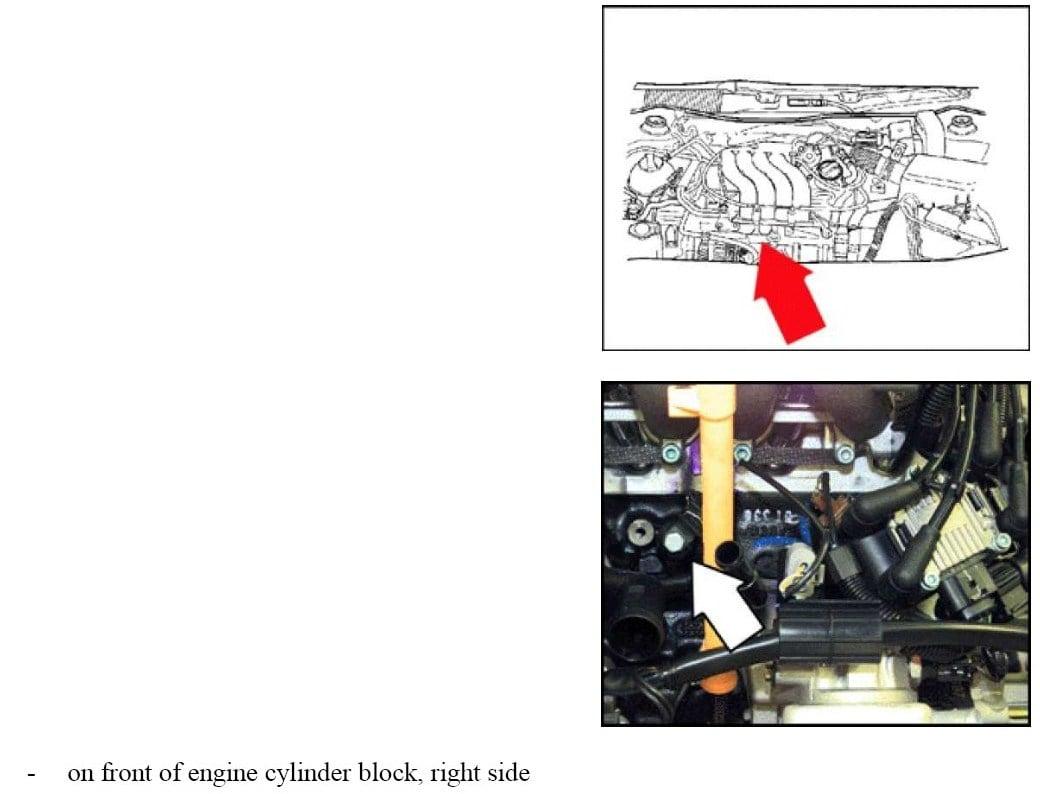 Knock on Bank 2 Sensor 1 Diagram
