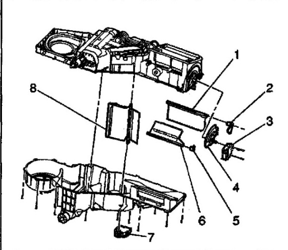 How Do I Replace The Mode Actuator For The Acheater On My 2001 Gmc