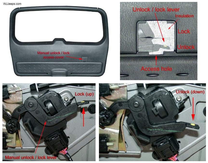 how to open a stuck caravan hatch door