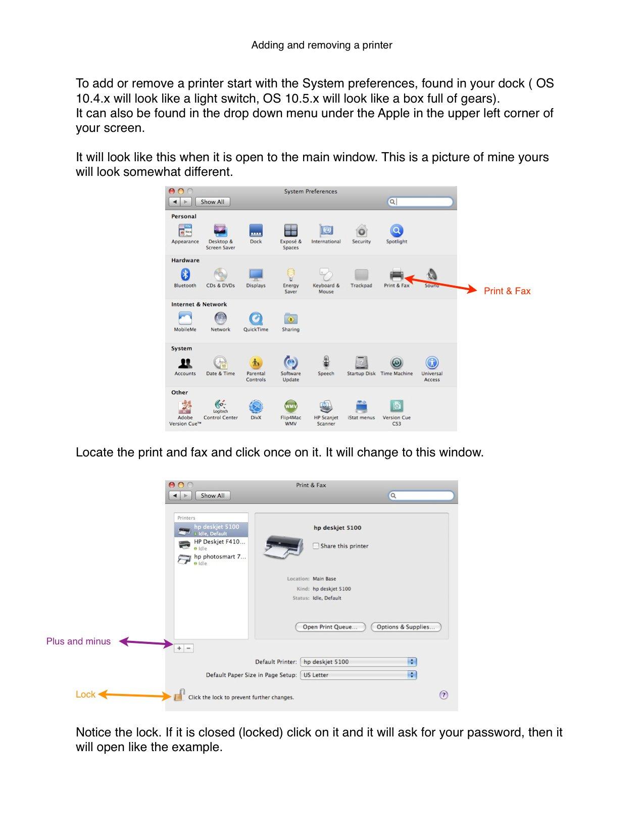 Mac printer can