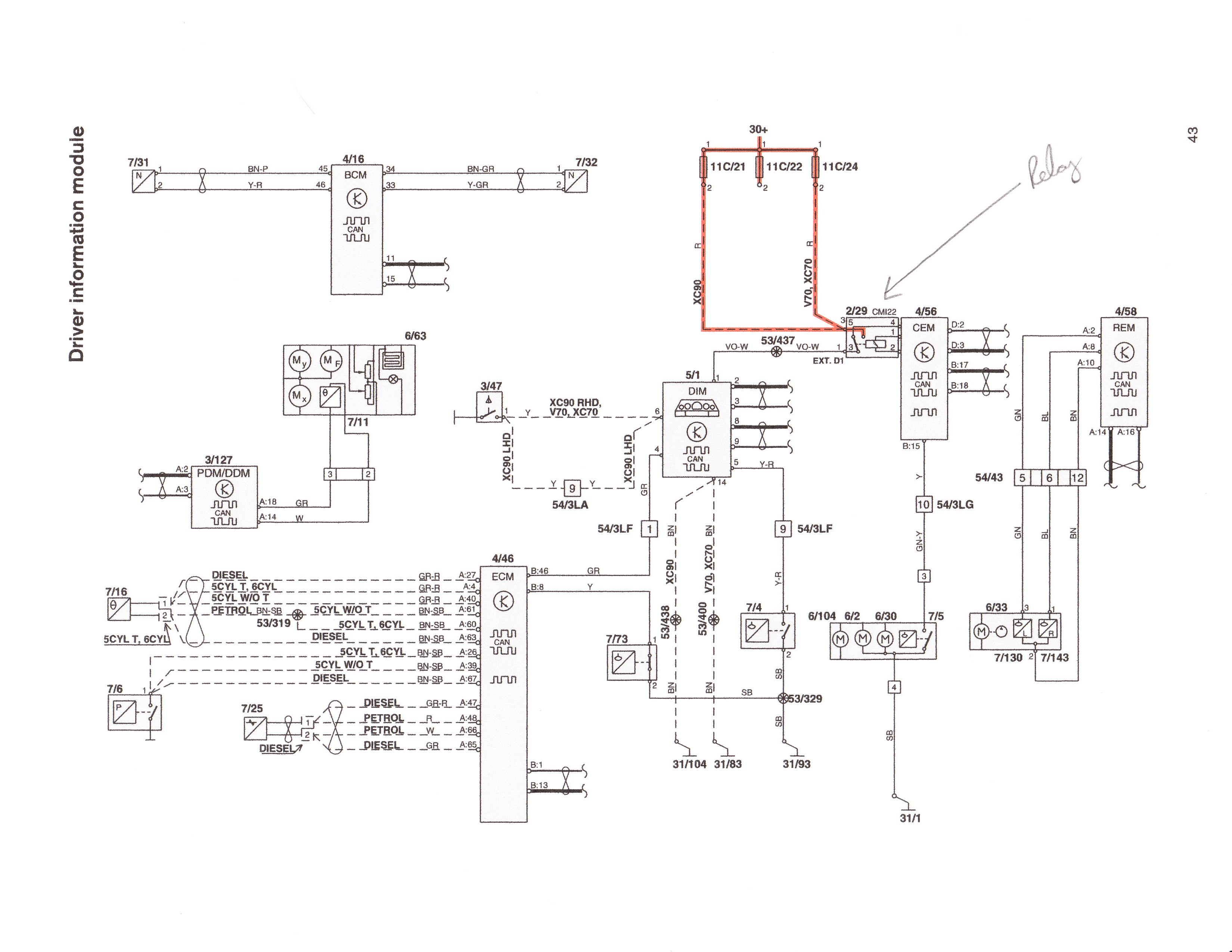 99 Volvo S80 Wiring Diagram Electrical Schematics Additionally 2004 Xc90 Cem Also S40 2001 Fan Explore Schematic U2022 Engine