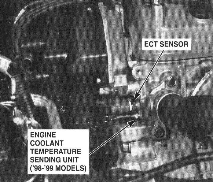 oxygen sensor diagram coolant temperature sensor location honda 98 Accord Ac Diagram
