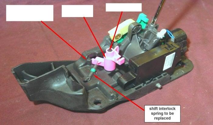 DODGE CHARGER MAGNUM CHRYSLER 300 Shifter Interlock Repair Latch ...