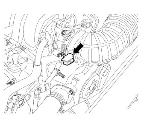 Where is the IAT/MAF sensor located on the 2007 300c 5 7L Hemi engine?