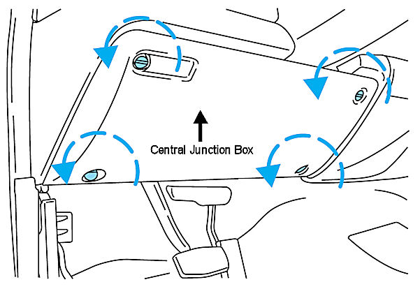 Need A Diagram Of Where The 2000 F250 Horn And Relay Are Located