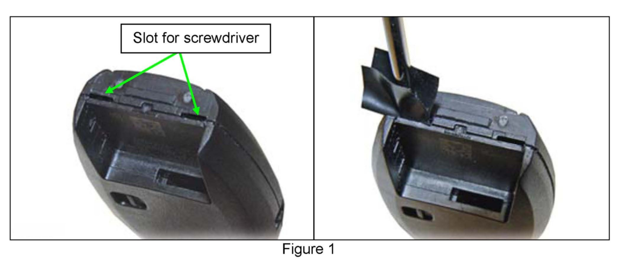 Place A Piece Of Tape On The End Of A Small Flathead Screwdriver. Graphic