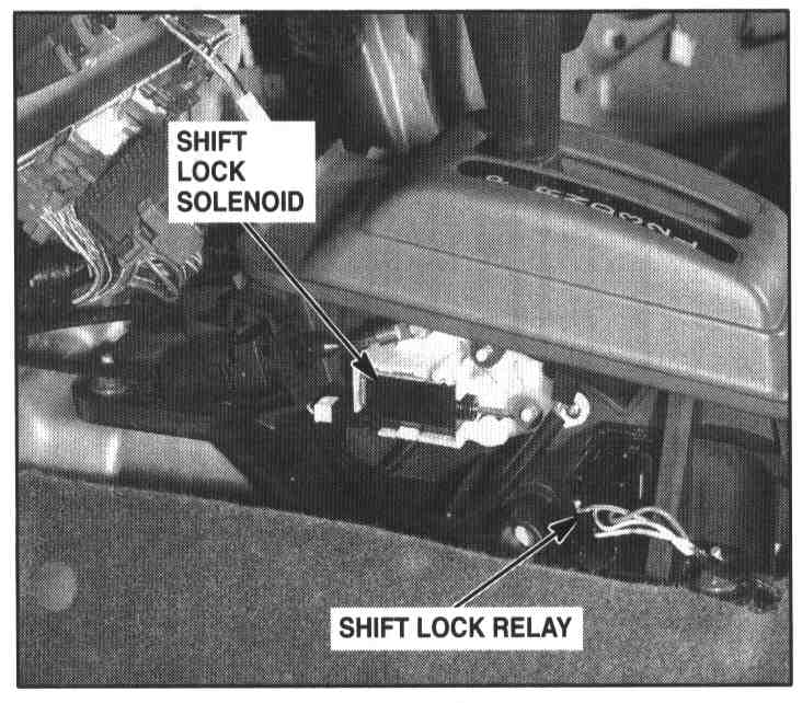 cant shift out of park – Isuzu Rodeo Shift Wiring