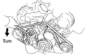 How To Take Off Aserpentine Belt On A2008 Toyota Tundra. Loosen The Belt Tension By Turning Tensioner Counterclockwise And Then Remove Fan Generator V Graphic. Toyota. 2007 Toyota Tundra Belt Schematics At Scoala.co