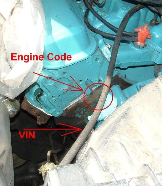 Where do I find the engine code/number on a 1967 Pontiac Grand Prix