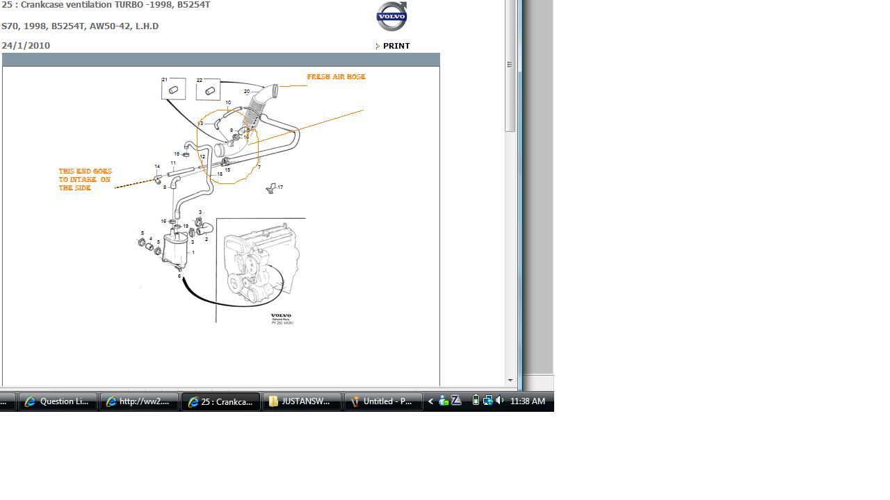 volvo 850 vacuum hose diagram