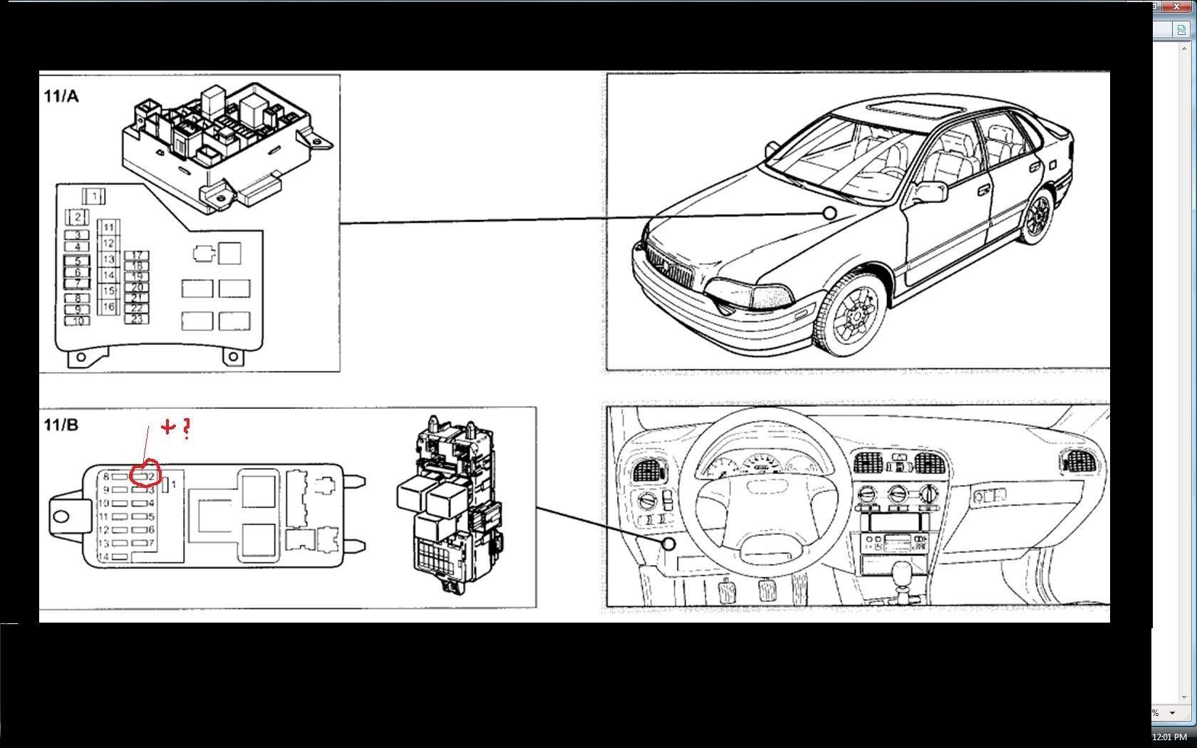 Sicherungen Volvo V40 Auto Bild Idee V50 Fuse Box Hallo Ich Habe Mir Letzte Woche Einen Bj 5 2000