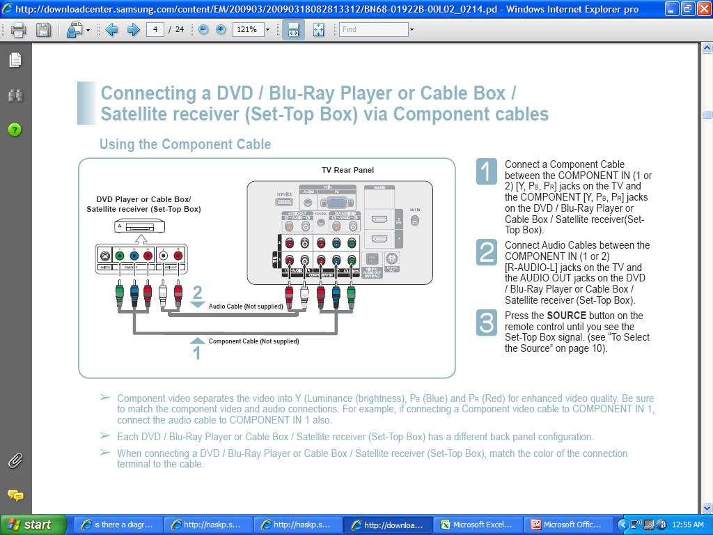 Is There A Diagram For Hooking Up A Cable Box   Tivo  A Vcr And A Dvd Player To My Samsung 42