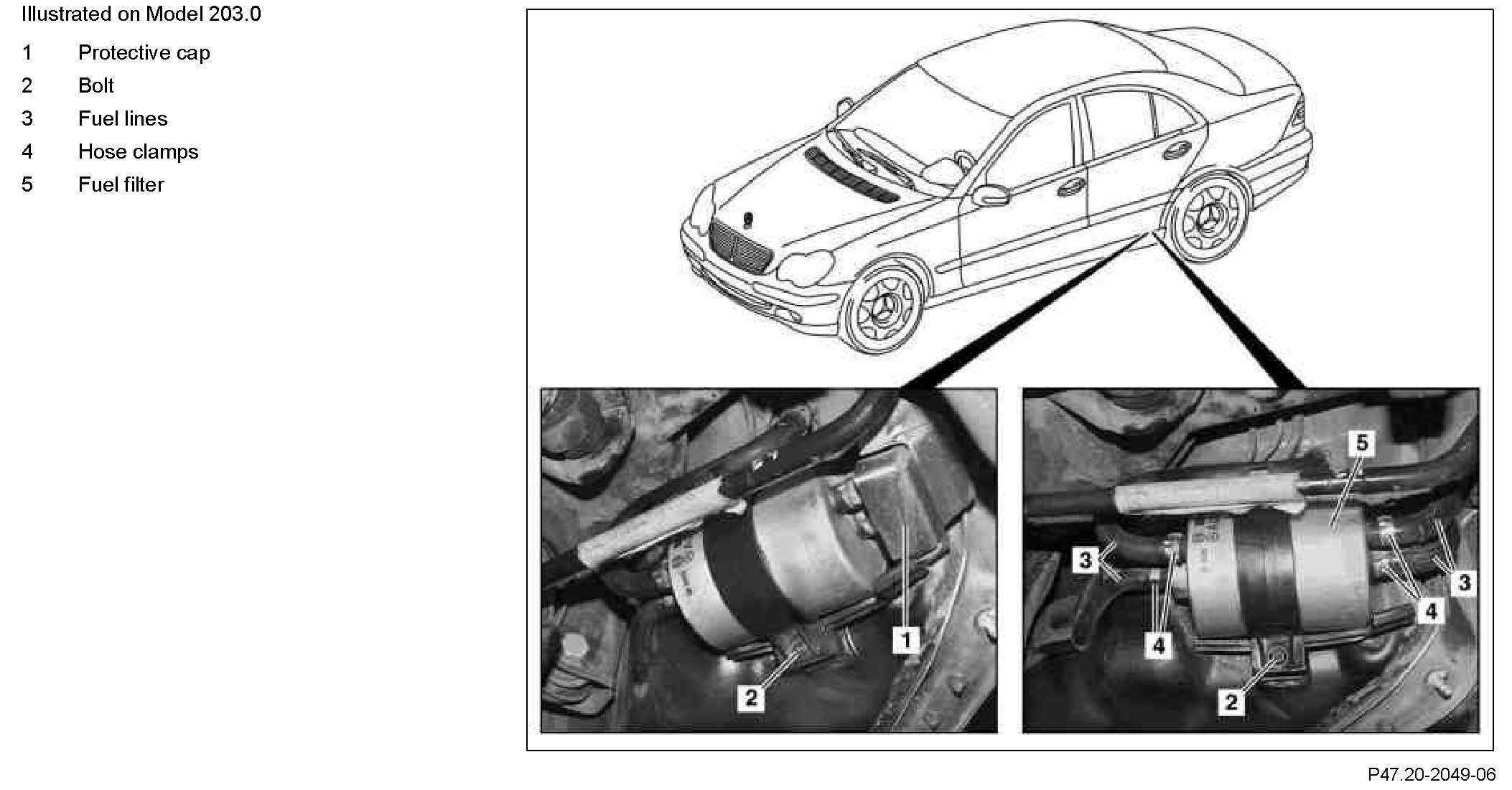 C230 Fuel Filter Wiring Library 2007 Dodge Location Graphic Where Is The Located On A