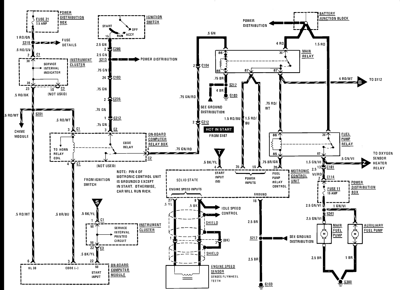 2001 bmw 325xi electrical diagram