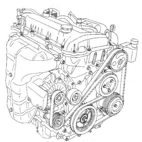 i need a serpentine belt diagram for mazda 6 2005 4 cyl engine