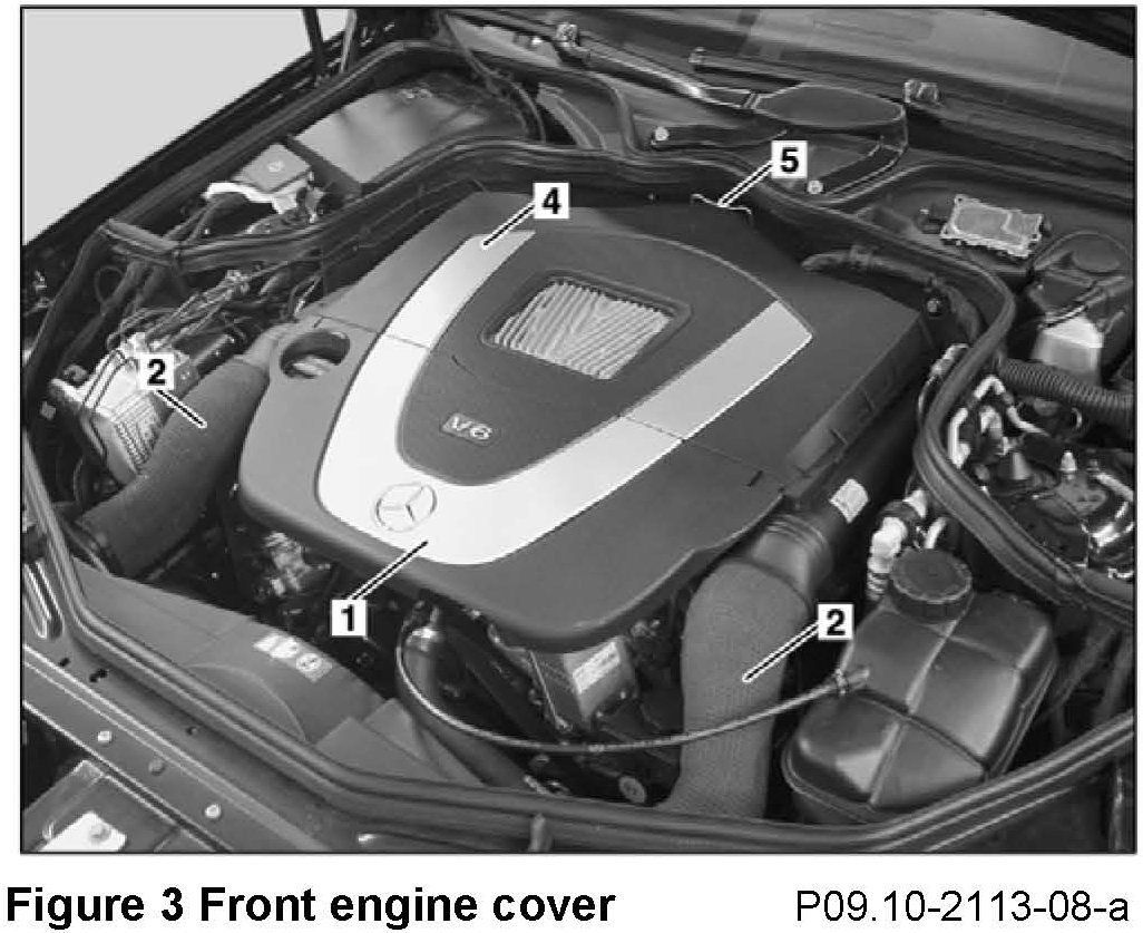 I changed my air filters in my 2006 ml 350 today and after for Mercedes benz engine number check
