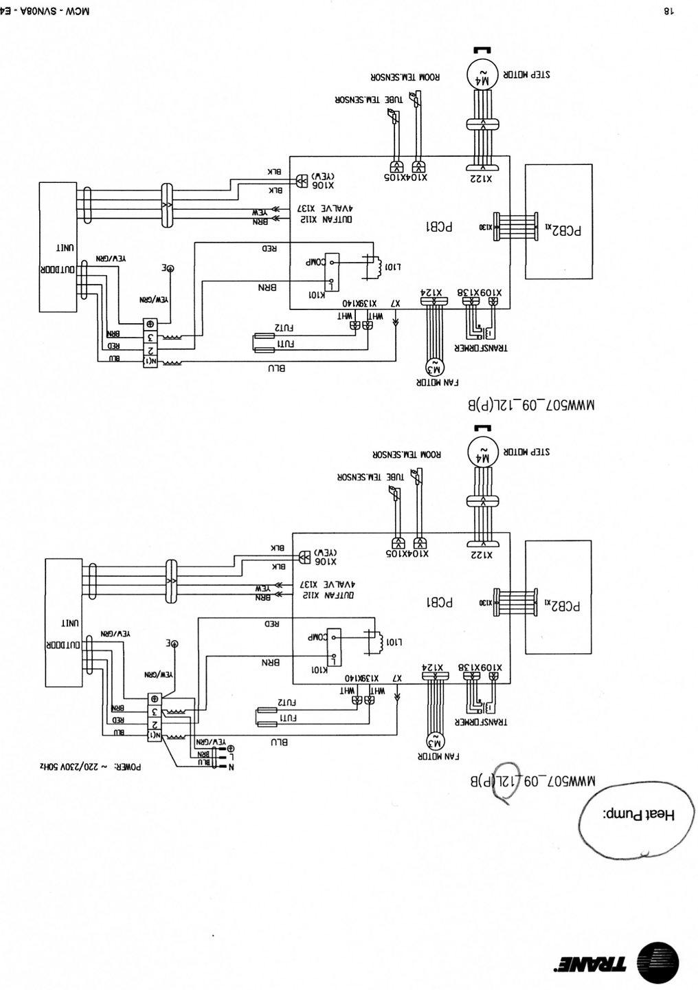 Wiring Diagram Trane Split System Best Electrical Circuit Mitsubishi Mini How Do I Connect 2 2mww0512e1000aa To 1 2twd0524a1aa Rh Justanswer Com Carrier Diagrams Hvac