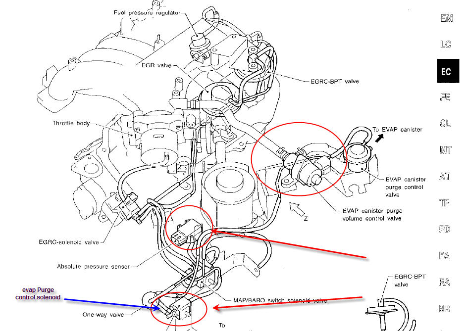 2001 Nissan Frontier Condenser Fan Wiring Harness furthermore Water Pump Cooling Fan Thermostat besides 24pr4 Working 2002 Mitsubishi Lancer No Power Fuel Pump also Fuel System Diagram furthermore Nissan Pathfinder 2 5 2013 Specs And Images. on nissan sentra engine diagram