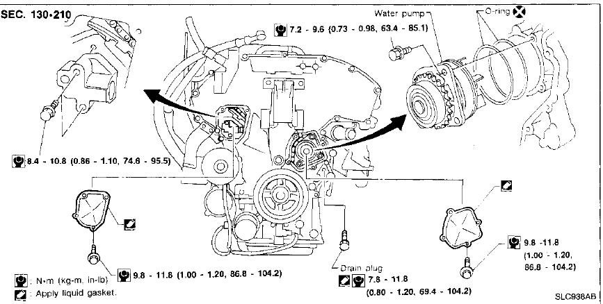 How To Change A Water Pump >> I Am Replacing The Water Pump On My 96 Maxima Even With The