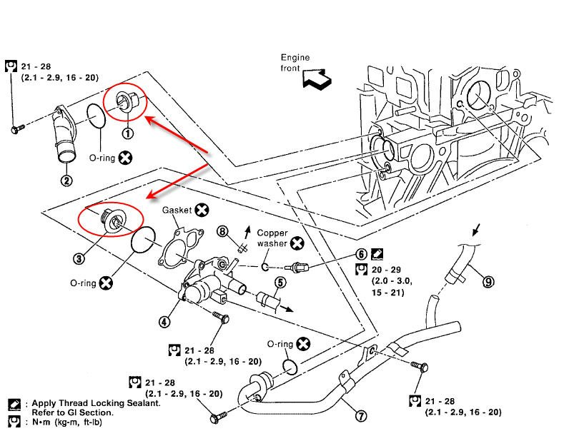 diagram nissan 3 5 engine thermostat  nissan  auto parts