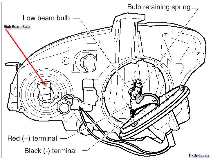 Nissan Altima Headlight Diagram